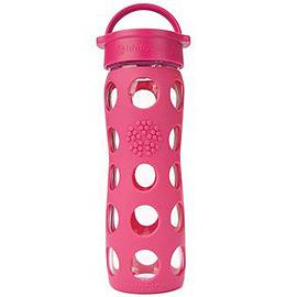 美國唯樂 Lifefactory 彩色玻璃水瓶 450ml 桃紅 LF220000