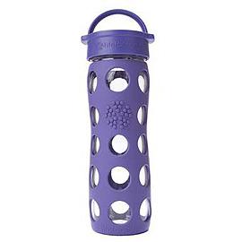 美國唯樂 Lifefactory 彩色玻璃水瓶 450ml 深紫 F220003