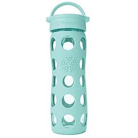 美國唯樂 Lifefactory 彩色玻璃水瓶 450ml 藍綠LF220004