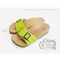 ◎g-shoes shop ◎**木屐** D07011-5(女款)蘋果綠人工學木屐拖(吸濕排汗)