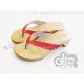 ◎g-shoes shop ◎**木屐** D45020-3夕陽橘色夾腳木屐鞋