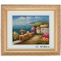 風景畫-s21(羅丹畫廊)含框39X45公分(100%手繪)