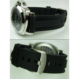 【錶帶家】代用Panerai 沛納海 TISSOT TAG SINN FORTIS 高級PU膠錶帶26mm