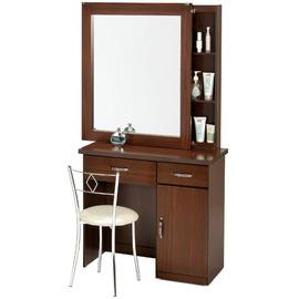 《Homelike》艾凡收納化妝桌椅組 化妝台 化妝鏡 鏡台 化妝椅 (二色任選)