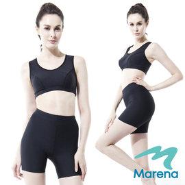 ~美國 MARENA~魔塑中腰三分褲 顯瘦機能安全褲~黑~