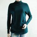 【ZARA】歐美時尚高領寬鬆連身針織衫(深綠) S