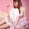 A-io 日式浴衣 雪紡紗外罩衫睡袍組 (粉)
