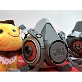 SF-3M 6000系列半面罩 3M-6200 3M-6300半面式雙罐防毒面具1個(不含濾罐) 3M6200 3M6300防毒面具【熊安全】