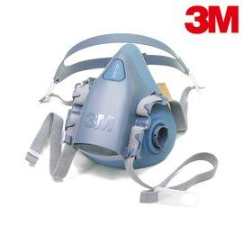 【醫碩科技】3M 7502 舒適矽膠雙罐式半面罩防毒面具 可搭6000系列濾罐 1個