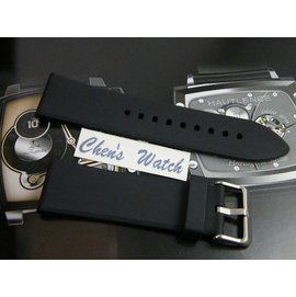 【其其精品屋】高質感PU 22mm 24mm 26mm 28mm光頭胎平面無纹直身完全替代同規格各廠錶帶