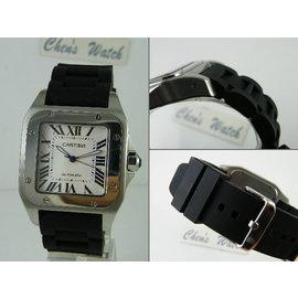 【其其精品屋】22mm 24mm『替代方案』卡地亞 Cartier 山度士 Santos 100 男錶進口高級矽膠錶帶