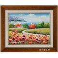 風景畫-m39(羅丹畫廊)含框42X52公分(100%手繪)
