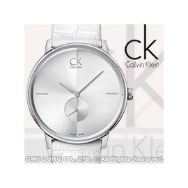 瑞士 CK手錶 Calvin Klein 男錶 K2Y211K6 獨立秒針白面紋路皮革男錶 開發票 一年