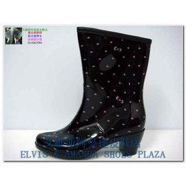 批發價790 RK-1雨鞋811黑粉*高跟捲邊中筒雨靴*(MADE IN CHINA)款式顏色最齊全請找*艾維斯阿曼達皮鞋店*