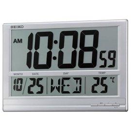 {時間伙伴}[免運費] 日本精工 SEIKO大型LCD螢幕顯示 座/掛兩用 溫度/日期/星期電子鐘~QHL056S(客訂商品)