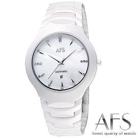 【AFS 富柏】時尚真我-高科技陶瓷腕錶-白(38mm)