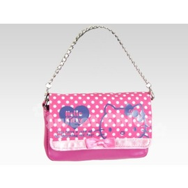 ☆淳淳寶貝童裝☆三麗鷗★ [144100N]精選商品*Hello Kitty 凱蒂貓 粉色白水玉藍KT 手機相機包