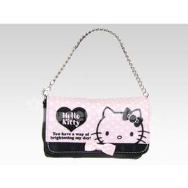 ☆淳淳寶貝童裝☆三麗鷗★ [144932N]精選商品*Hello Kitty 凱蒂貓 粉黑色白水玉藍KT 手機相機包