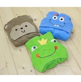 carter's造型毛巾料嬰兒包巾.浴巾~猴子
