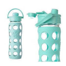 ~新色上市~美國唯樂Lifefactory 繽紛玻璃飲水瓶450ml淺藍綠 LF22400