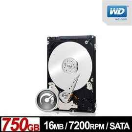 【精品3C】全新 威騰 WD 750GB【 黑標 】7500BPKX /  16M /  7200轉 /  Sata3 /  2.5吋【五年保固】