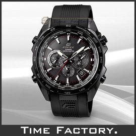 【時間工廠】全新 CASIO 光動能電波黑面三眼運動錶 EQW-M600C-1