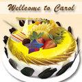 夢幻蘿娜 8吋生日蛋糕