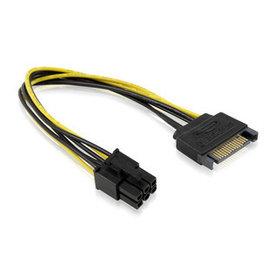 主機板 3.5吋 15P SATA公轉6PIN/6P公 公轉公 SATA電源轉6P顯卡電源 轉接線 [DSS-00006]