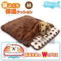日本Doggyman. 超厚毛茸茸舒適保溫睡袋3580【M號 咖啡色】適合8公斤以下小犬貓