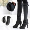 Yes Do !!【eak5000】 性感女人細跟皮革長筒靴。 2色230-250預購