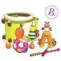 美國【B.Toys】邦邦鼓砰砰砰打擊樂團(敲敲打打、有節奏感可建立音樂智能)