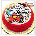 ★兔妹妹平面造型蛋糕(8吋)F028