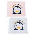 【布克浩司】PUKU藍色企鵝 繡花肚圍(L)-藍/粉紅 (P26406)★可愛企鵝繡圖