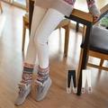 韓國妹【ebg0287】 冬日針織緊身內搭褲。 2色S-L預購