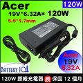 Acer變壓器(原廠)宏碁充電器 120W 電源 19V 6.32A Aspire 5350 5745G 5745PG 5750G 5750Z 5750ZG 5820G 5820TZ 5820T...