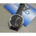 精工紳士簡約大錶徑100M皮帶腕錶型號:SGEG69P2 男