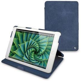 「iPad Air」蘋果Apple iPad Air 專用真皮皮套 保護套 保護殼 手工訂製 法國NOREVE皮套 牛仔藍 專賣店 推薦