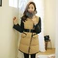韓國妹【efn0323】 高級狐狸皮草外套。 米色預購