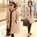 韓國妹【ecb0167】 早春高級質感連帽風衣。 2色預購