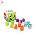 美國B.Toys 歡樂立方(湖水綠)*益智操作.顏色分類.配對積木.嬰幼玩具
