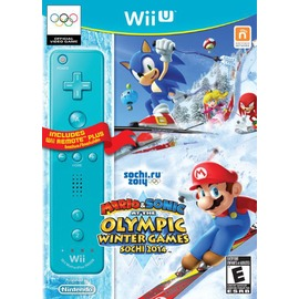 WiiU Mario  Sonic Sochi 2014 Olympic Winter Games with Blue Wii Remote Plus 瑪利歐&