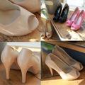 Yes Do !!【efn0350】 早春時尚優雅高跟魚口鞋。 3色225-250預購