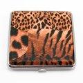 香煙盒 可裝20支菸盒 圖紋皮面 正方形豹紋