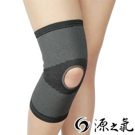 【源之氣】竹炭開洞型運動護膝(2入) RM-10219