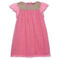 *Mombabyfun* I Love Gorgeous 娃娃荷葉紡紗袖晚禮服-粉色 SS14FC02JPPK