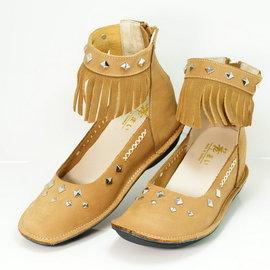 【舞Mai】MIT流蘇牛皮增高舒適鞋-(藍色)頭層軟牛皮/增高6公分/加厚乳膠避震墊/適合寬厚腳板/舒適好穿/台灣製造/手工