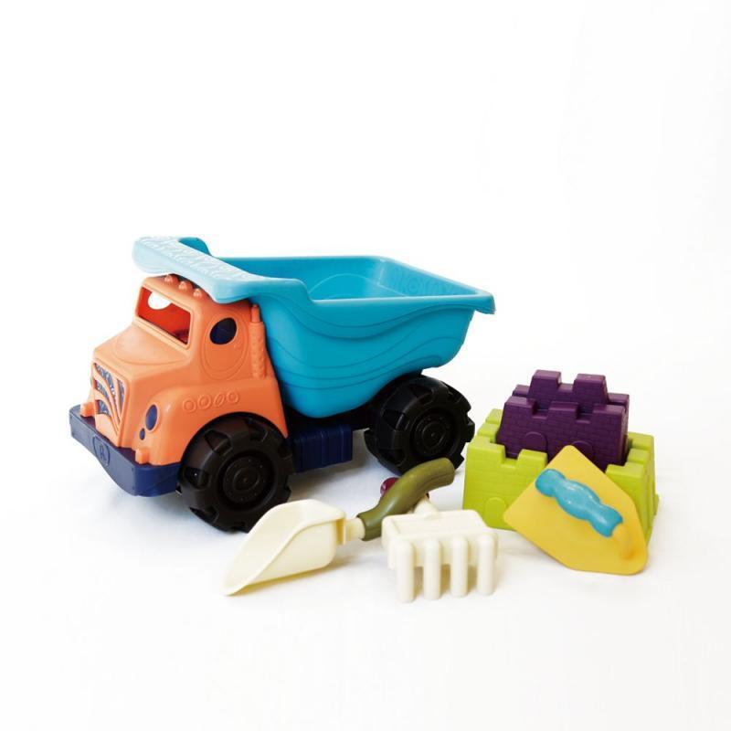 美國B.Toys 交通系列-沙子一卡車.角色扮演.18個月以上.夏日玩水玩沙.車類玩具.角色扮演