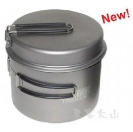 【露營趣】中和 附手電筒 犀牛 RHINO KT-15 超輕鈦合金鍋 鈦鍋 單人鍋 二人鍋 湯鍋 煎盤 平底鍋