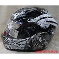 《福利社》瑞獅 ZEUS ZS 801 Z13《彩繪系列》 黑/黑 E8 插扣 全罩帽 安全帽 內襯全可拆洗 通過歐規ECE/台灣CNS/美國DOT認證