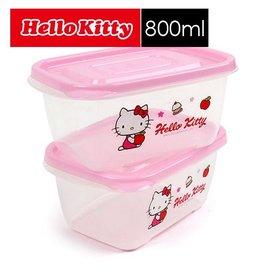 樂扣樂扣Hello Kitty EZ Lock保鮮盒-800ml(LKT805)二入組